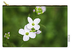 White Cuckoo Flowers Carry-all Pouch