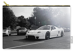 Carry-all Pouch featuring the photograph White Custom Nsx  by Joel Witmeyer