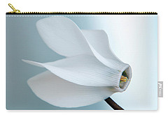 White Cyclamen. Carry-all Pouch by Terence Davis