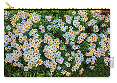 Carry-all Pouch featuring the photograph White Daisy Bush by Roger Bester