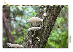 White Deer Mushrooms Carry-all Pouch