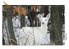 White Deer Vistor Carry-all Pouch by Brook Burling