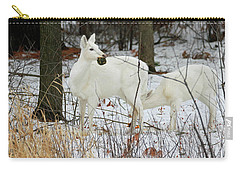 White Deer With Squash 2 Carry-all Pouch by Brook Burling
