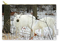 White Deer With Squash 3 Carry-all Pouch by Brook Burling