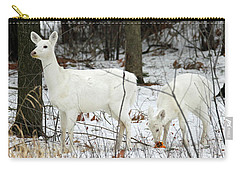 White Deer With Squash 4 Carry-all Pouch