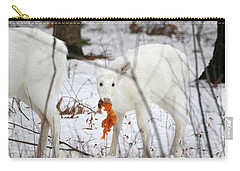 White Deer With Squash 5 Carry-all Pouch by Brook Burling