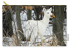 White Doe With Squash Carry-all Pouch by Brook Burling