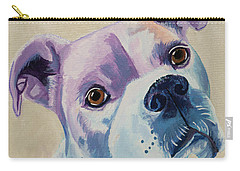 White Dog Portrait Carry-all Pouch