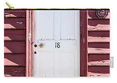 White Door And Peach Wall Carry-all Pouch