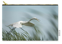 White Egret 2016-2 Carry-all Pouch by Thomas Young