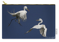 White Egret Ballet Carry-all Pouch by Myrna Bradshaw