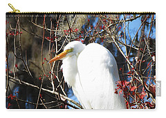 White Egret Bird Carry-all Pouch