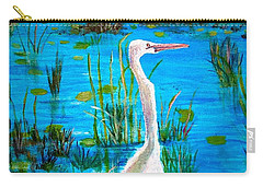 White Egret In Florida Carry-all Pouch