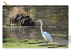 White Egret In The Shallows Carry-all Pouch