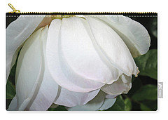 Carry-all Pouch featuring the photograph White Floral by Tikvah's Hope