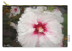 Carry-all Pouch featuring the painting White Flower by Joan Reese