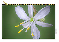 Carry-all Pouch featuring the photograph White Flower by Lynn Geoffroy