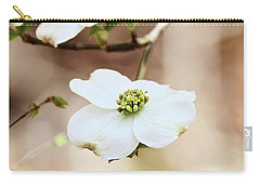 Carry-all Pouch featuring the photograph White Flowering Dogwood Tree Blossom by Stephanie Frey