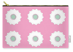 Carry-all Pouch featuring the digital art White Flowers by Elizabeth Lock