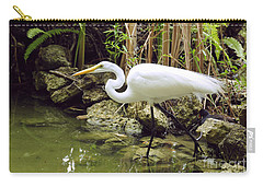 White Heron Carry-all Pouch