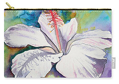 White Hibiscus Waimeae Carry-all Pouch