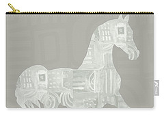 White Horse 1- Art By Linda Woods Carry-all Pouch