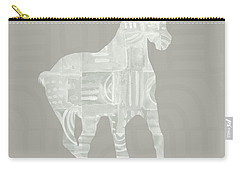 White Horse 3- Art By Linda Woods Carry-all Pouch