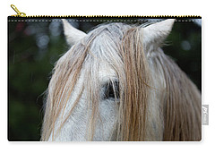 White Horse Eye And Mane Carry-all Pouch