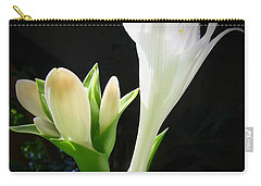 White Hostas Blooming 7 Carry-all Pouch by Maciek Froncisz
