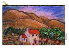 Carry-all Pouch featuring the painting White House In An Oak Grove by Xueling Zou