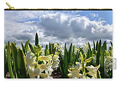 White Hyacinth Field Carry-all Pouch by Mihaela Pater
