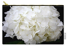White Hydrangea Carry-all Pouch by Kume Bryant