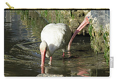 Carry-all Pouch featuring the photograph White Ibis Couple by George Randy Bass