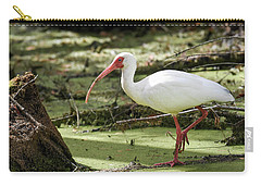 Carry-all Pouch featuring the photograph White Ibis by Gary Wightman