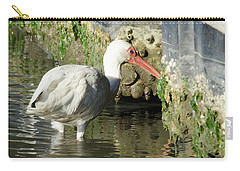 Carry-all Pouch featuring the photograph White Ibis Headed Home by George Randy Bass