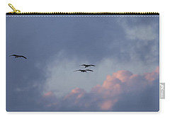 White Ibis In Flight At Sunset Carry-all Pouch