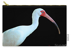 White Ibis Carry-all Pouch by Mariarosa Rockefeller