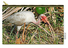 White Ibis With Crayfish Carry-all Pouch