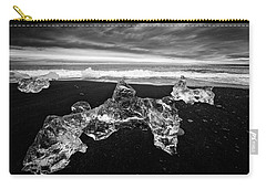 White Ice Black Beach - Fascinating Iceland Carry-all Pouch by Matthias Hauser