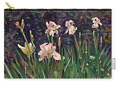 Carry-all Pouch featuring the painting White Irises by Donald Maier