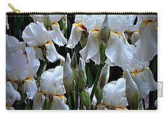 White Iris Garden Carry-all Pouch by Sherry Hallemeier