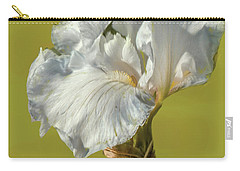 Carry-all Pouch featuring the photograph White Iris June 2016 Artistic.  by Leif Sohlman