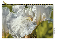 Carry-all Pouch featuring the photograph White Iris June 2016.  by Leif Sohlman