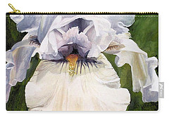 Carry-all Pouch featuring the painting White Iris by Laurie Rohner