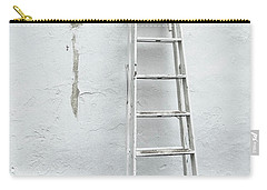 Carry-all Pouch featuring the photograph White Ladder by Tom Singleton