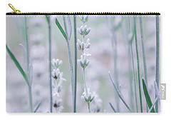 Carry-all Pouch featuring the photograph White Lavender  by Andrea Anderegg