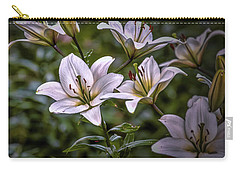 Carry-all Pouch featuring the photograph White Lilies #g5 by Leif Sohlman