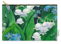 White Lilies Of The Valley Carry-all Pouch by Sergey Lukashin