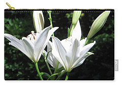 Carry-all Pouch featuring the painting White Lilies, West Virginia by Sandy McIntire