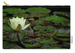 Carry-all Pouch featuring the photograph White Lily In The Pond by Amee Cave